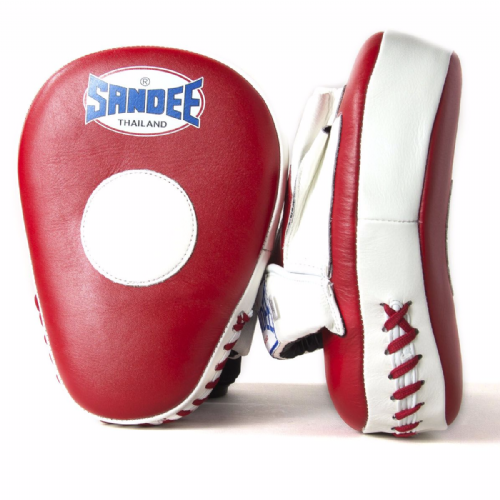 Sandee Curved Focus Mitts - Red